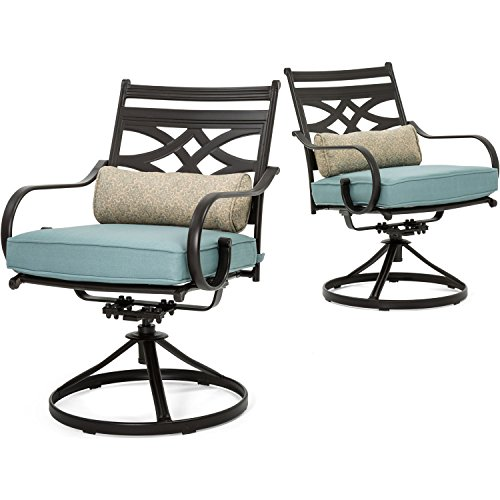 Hanover-MCLRDN7PCSQSW6-BLU-Montclair-7-Piece-Set-in-Ocean-Blue-with-6-Swivel-Rockers-and-a-40-x-67-Dining-Table-Outdoor-Furniture-0-0