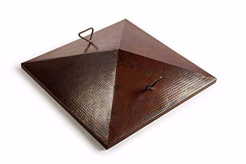 Hearth-Products-Controls-Square-Hammered-Copper-Cover-for-40-Inch-Sedona-Bowl-FPHC-40SEDONA-SQ-0