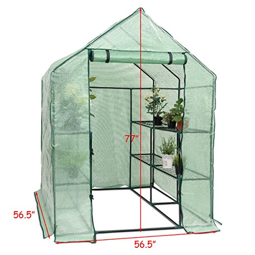 Heavy-Duty-Outdoor-8-Shelves-2-Tiers-Portable-Mini-Walkin-Greenhouse-Perfect-for-Extending-Your-Growing-Season-and-Protecting-Your-Plants-0-0