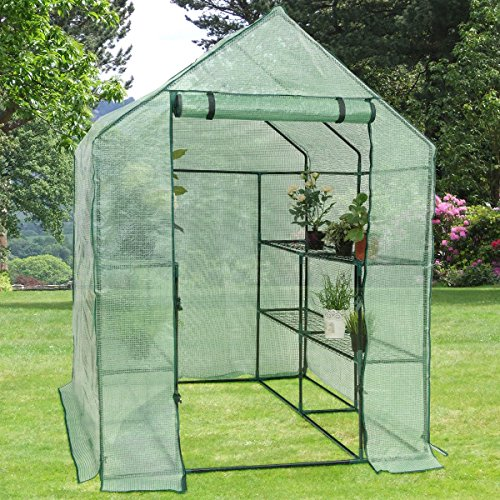 Heavy-Duty-Outdoor-8-Shelves-2-Tiers-Portable-Mini-Walkin-Greenhouse-Perfect-for-Extending-Your-Growing-Season-and-Protecting-Your-Plants-0-1