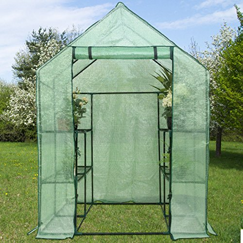 Heavy-Duty-Outdoor-8-Shelves-2-Tiers-Portable-Mini-Walkin-Greenhouse-Perfect-for-Extending-Your-Growing-Season-and-Protecting-Your-Plants-0-2