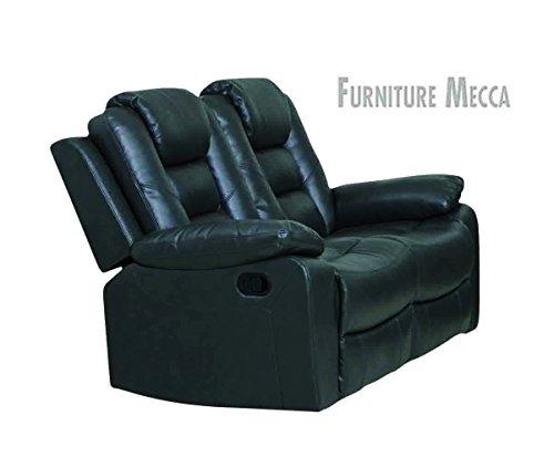 Hinglin-Taurus-Genuine-Cushioned-Black-Leather-Reclining-Loveseat-0