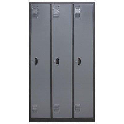Homak-Mfg-Co-GS00700301-3-Tall-Door-Steel-Locker-0
