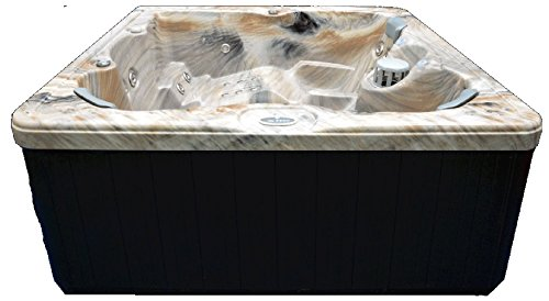 Home-and-Garden-Spas-HG51T-6-Person-51-Outdoor-Spa-with-Stainless-Jets-Ozone-82-x-82-x-35-Tuscan-Sun-0-0
