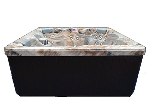 Home-and-Garden-Spas-HG51T-6-Person-51-Outdoor-Spa-with-Stainless-Jets-Ozone-82-x-82-x-35-Tuscan-Sun-0-2