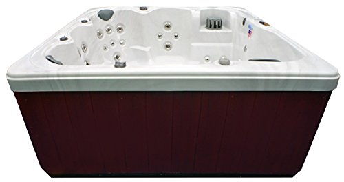 Home-and-Garden-Spas-HG71A-6-Person-71-Outdoor-Spa-with-Mp3-Auxiliary-Output-Ozone-82-x-82-x-35-Sterling-White-0-0