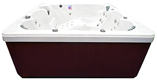 Home-and-Garden-Spas-HG71A-6-Person-71-Outdoor-Spa-with-Mp3-Auxiliary-Output-Ozone-82-x-82-x-35-Sterling-White-0-1