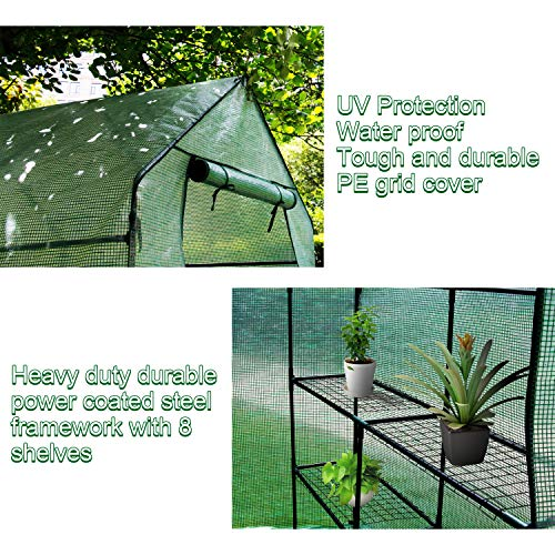 Home-use-Large-Walk-in-Greenhouse-With-PE-Cover-Outdoor-Gardening-Organic-Greenhouse-For-Grow-Seeds-Seedlings-Succulents3-Tiers-6-Shelves-56-W-x-56-D-x-77-H-Inch-0-2