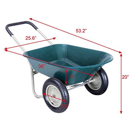 Honesty-2-Tire-Wheelbarrow-Garden-Yard-Cart-Landscape-Wagon-Heavy-Duty-0-1