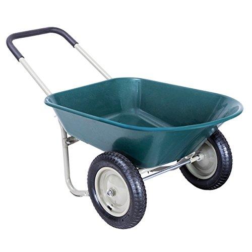 Honesty-2-Tire-Wheelbarrow-Garden-Yard-Cart-Landscape-Wagon-Heavy-Duty-0