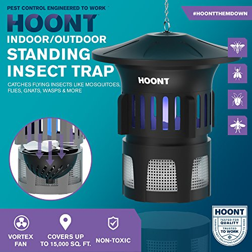 Hoont-Mosquito-Killer-and-Gnat-Fly-Trap-Killer-by-Indoor-Outdoor-Mosquito-Trap-Control-with-Stand-Bright-UV-Light-and-FanExterminate-Mosquitoes-Wasps-Etc-Perfect-for-Patio-Gardens-etc-0-0