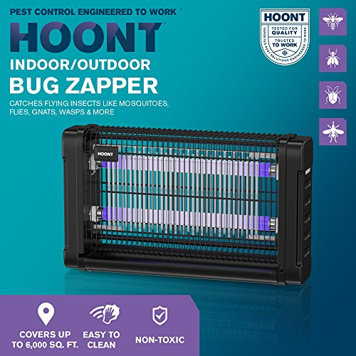 Hoont-Powerful-Electric-Indoor-Bug-Zapper-and-Fly-Zapper-Catcher-Trap-Killer–Protects-2000-Sq-FtFly-and-Bug-Killer-Insect-Killer-Mosquito-Killer–For-Residential-Commercial-and-Industrial-0-0