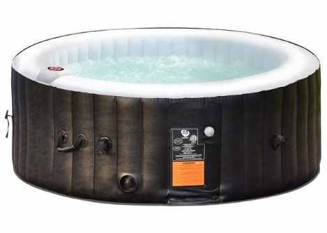 Inflatable-Hot-Tub-Outdoor-Portable-for-4-Persons-Black-0-0