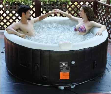 Inflatable-Hot-Tub-Outdoor-Portable-for-4-Persons-Black-0