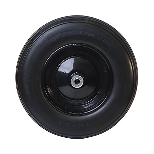 Ireko-WBNF16-Anti-Flat-Ribbed-Replacement-Wheel-for-Wheelbarrow-16-Inches-No-Flat-Tire-Black-0