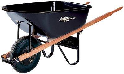 Jackson-Steel-Medium-Duty-Wheelbarrows-6-cu-ft-Smooth-Oilube-Bearing-Black-2-Pack-0
