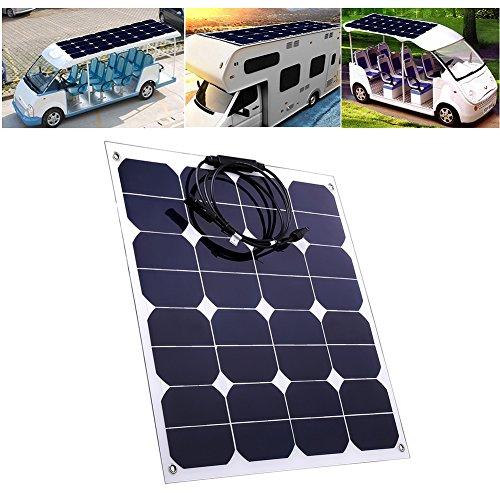 Jannyshop-18V-50W-Flexible-Solar-Panel-Solar-Charger-with-Cable-for-12V-Battery-Caravan-Boat-Shed-Car-Motorhome-Camping-Monocrystalline-0-2