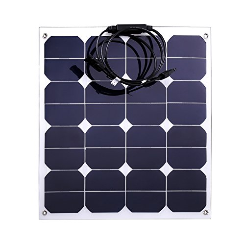 Jannyshop-18V-50W-Flexible-Solar-Panel-Solar-Charger-with-Cable-for-12V-Battery-Caravan-Boat-Shed-Car-Motorhome-Camping-Monocrystalline-0