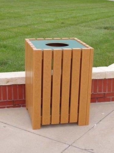 Jayhawk-Plastics-Heavy-Duty-Square-32-Gallon-Trash-Receptacle-Made-With-Twenty-Four-2-X-4-Recycled-Plastic-Slats-Cedar-0