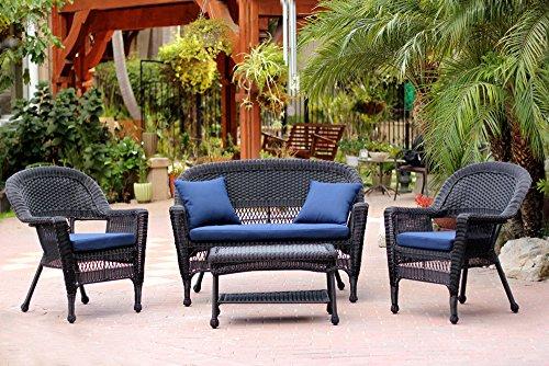 Jeco-Inc-4-Piece-Wicker-Conversation-Set-Navy-Blue-Cushions-0