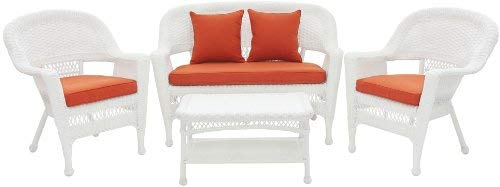 Jeco-Inc-4-Piece-Wicker-Conversation-Set-with-Red-Orange-Cushions-0-0
