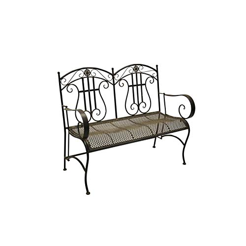 Jeco-Qadir-Black-and-Brown-Iron-Mid-Century-Style-Bench-0-0