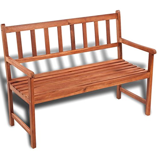 K-Top-Deal-Outdoor-Patio-Wooden-Bench-Acacia-Wood-with-Light-Oil-Finish-Patio-Furniture-0