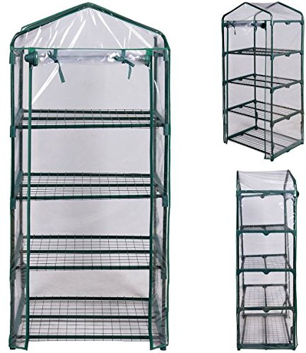 KA-Company-Grow-Greenhouse-Tent-High-Strength-Portable-4-Shelves-Outdoor-Mini-0-2