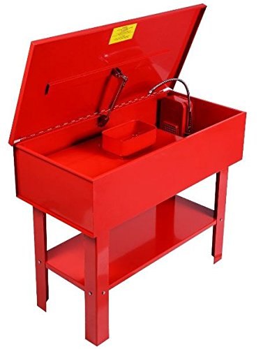 KA-Company-Parts-Washer-Electric-Solvent-Pump-Shelf-Tank-40-Gallon-120V60HZ-43x21x35-Red-0-0