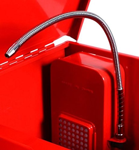 KA-Company-Parts-Washer-Electric-Solvent-Pump-Shelf-Tank-40-Gallon-120V60HZ-43x21x35-Red-0-1