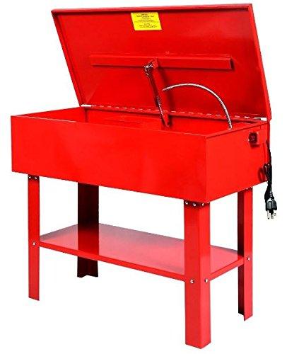 KA-Company-Parts-Washer-Electric-Solvent-Pump-Shelf-Tank-40-Gallon-120V60HZ-43x21x35-Red-0