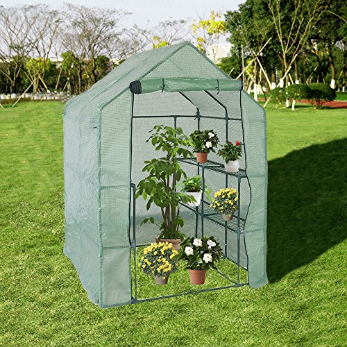 KARMAS-PRODUCT-Walk-in-Mini-Outdoor-Greenhouse-2-Tier-8-Shelf-Portable-Garden-Backyard-Patio-Plants-Tent-563L-x-563W-x-767H-0-0