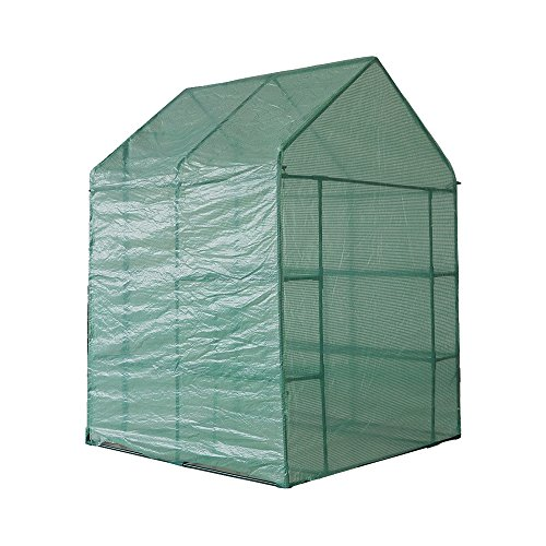 KARMAS-PRODUCT-Walk-in-Mini-Outdoor-Greenhouse-2-Tier-8-Shelf-Portable-Garden-Backyard-Patio-Plants-Tent-563L-x-563W-x-767H-0-2