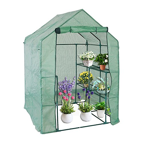 KARMAS-PRODUCT-Walk-in-Mini-Outdoor-Greenhouse-2-Tier-8-Shelf-Portable-Garden-Backyard-Patio-Plants-Tent-563L-x-563W-x-767H-0