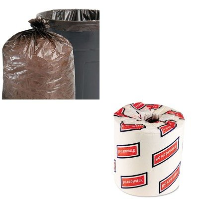 KITBWK6180STOT5051B15-Value-Kit-Stout-100-Recycled-Plastic-Garbage-Bags-STOT5051B15-and-White-2-Ply-Toilet-Tissue-45quot-x-3quot-Sheet-Size-BWK6180-0