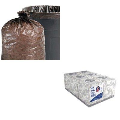 KITKIM21271STOT5051B15-Value-Kit-Stout-100-Recycled-Plastic-Garbage-Bags-STOT5051B15-and-KIMBERLY-CLARK-KLEENEX-White-Facial-Tissue-KIM21271-0