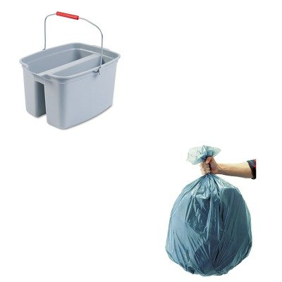 KITRCP262888GYRCP501188GRA-Value-Kit-Rubbermaid-2628-88-GRA-Brute-Plastic-Buckets-19-qt-RCP262888GY-and-Rubbermaid-5011-88-Tuffmade-Polyliner-Low-Density-Can-Liners-55-Gallons-RCP501188GRA-0