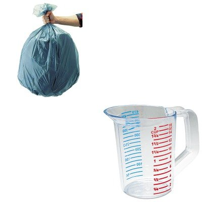 KITRCP3215CLERCP501188GRA-Value-Kit-Rubbermaid-Clear-Bouncer-Measuring-Cups-1-Pint-RCP3215CLE-and-Rubbermaid-5011-88-Tuffmade-Polyliner-Low-Density-Can-Liners-55-Gallons-RCP501188GRA-0
