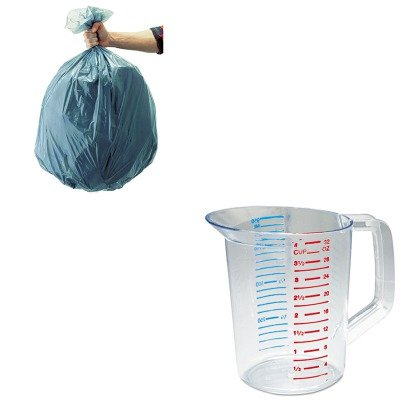 KITRCP3216CLERCP501188GRA-Value-Kit-Rubbermaid-Clear-Bouncer-Measuring-Cups-1-Quart-RCP3216CLE-and-Rubbermaid-5011-88-Tuffmade-Polyliner-Low-Density-Can-Liners-55-Gallons-RCP501188GRA-0