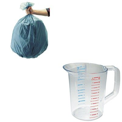KITRCP3217CLERCP501188GRA-Value-Kit-Rubbermaid-Clear-Bouncer-Measuring-Cups-2-Quart-RCP3217CLE-and-Rubbermaid-5011-88-Tuffmade-Polyliner-Low-Density-Can-Liners-55-Gallons-RCP501188GRA-0