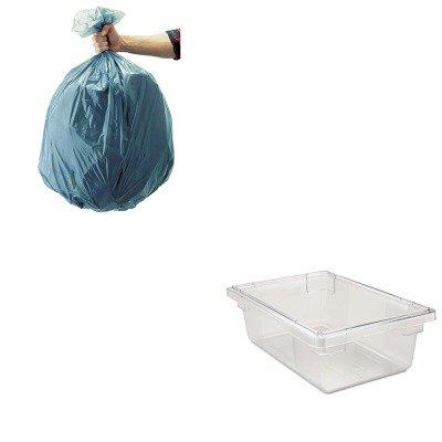 KITRCP3309CLERCP501188GRA-Value-Kit-Rubbermaid-Clear-Food-Boxes-3-12-Gallons-Capacity-RCP3309CLE-and-Rubbermaid-5011-88-Tuffmade-Polyliner-Low-Density-Can-Liners-55-Gallons-RCP501188GRA-0