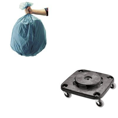 KITRCP3530RCP501188GRA-Value-Kit-Rubbermaid-Black-Twist-OnOff-Square-Brute-Dolly-RCP3530-and-Rubbermaid-5011-88-Tuffmade-Polyliner-Low-Density-Can-Liners-55-Gallons-RCP501188GRA-0