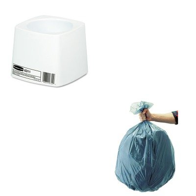 KITRCP501188GRARCP631100WE-Value-Kit-Rubbermaid-White-Polypropylene-Toilet-Bowl-Brush-Holder-RCP631100WE-and-Rubbermaid-5011-88-Tuffmade-Polyliner-Low-Density-Can-Liners-55-Gallons-RCP501188GRA-0