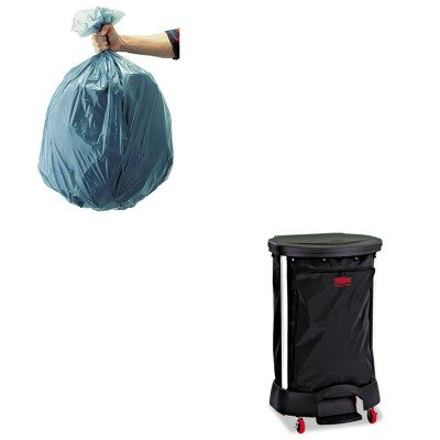 KITRCP501188GRARCP6350BLA-Value-Kit-Linen-Hamper-Bag-30-Gallon-RCP6350BLA-and-Rubbermaid-5011-88-Tuffmade-Polyliner-Low-Density-Can-Liners-55-Gallons-RCP501188GRA-0