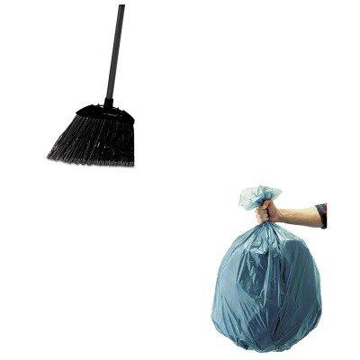 KITRCP501188GRARCP637400BLA-Value-Kit-Rubbermaid-Black-Brute-Angled-Lobby-Broom-RCP637400BLA-and-Rubbermaid-5011-88-Tuffmade-Polyliner-Low-Density-Can-Liners-55-Gallons-RCP501188GRA-0