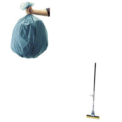 KITRCP501188GRARCP6435BZE-Value-Kit-Rubbermaid-Brown-Steel-Roller-Sponge-Mop-RCP6435BZE-and-Rubbermaid-5011-88-Tuffmade-Polyliner-Low-Density-Can-Liners-55-Gallons-RCP501188GRA-0