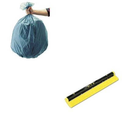 KITRCP501188GRARCP6436YEL-Value-Kit-Rubbermaid-Mop-Head-Refill-For-Steel-Roller-Sponge-12ampquot-Wide-Yellow-RCP6436YEL-and-Rubbermaid-5011-88-Tuffmade-Polyliner-Low-Density-Can-Liners-55-Gallons-RCP5-0