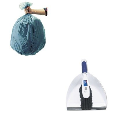 KITRCP501188GRARCP6C0100-Value-Kit-Rubbermaid-Duster-Brush-wPlastic-Dustpan-RCP6C0100-and-Rubbermaid-5011-88-Tuffmade-Polyliner-Low-Density-Can-Liners-55-Gallons-RCP501188GRA-0