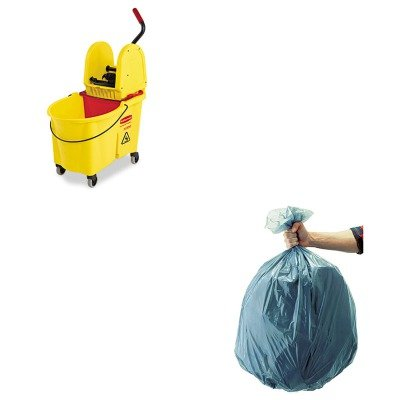 KITRCP501188GRARCP757688YW-Value-Kit-Yellow-WaveBrake-44-Qt-Down-Press-Combo-RCP757688YW-and-Rubbermaid-5011-88-Tuffmade-Polyliner-Low-Density-Can-Liners-55-Gallons-RCP501188GRA-0