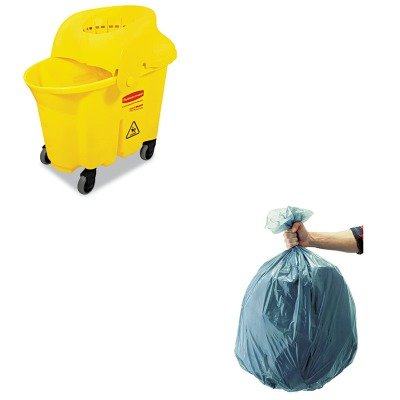 KITRCP501188GRARCP759088YEL-Value-Kit-Rubbermaid-Wavebrake-Institutional-Combo-Yellow-RCP759088YEL-and-Rubbermaid-5011-88-Tuffmade-Polyliner-Low-Density-Can-Liners-55-Gallons-RCP501188GRA-0